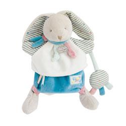 Doudou marionnette lapin happy
