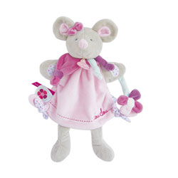 Doudou Marionnette Souris pearly