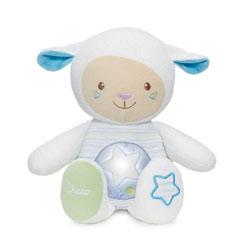 Peluche mouton tendres mots doux bleu