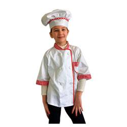 Veste cuisinier avec toque