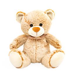 Peluche ours pastel avec foulard 25 cm
