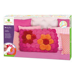 Lovely Box-Coussin pompons