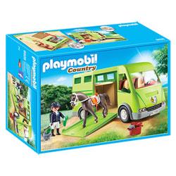 6928 - Cavalier avec van et cheval Playmobil Country
