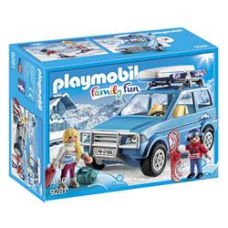 9281 - Playmobil Family Fun Voiture de montagne avec coffre de toit