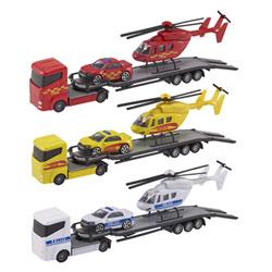 Camion Hélicoptère et Voiture de Secours