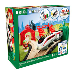 Brio 33873-Circuit de voyageur et locomotive intelligente Smart Tech