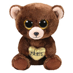 Beanie Boo's - Peluche Ours Paris 15 cm