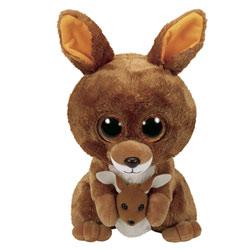 Beanie boo's-Peluche Kipper le kangourou 23 cm