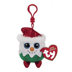 Porte clés Beanie Boo's Eggnog le bonhomme de neige