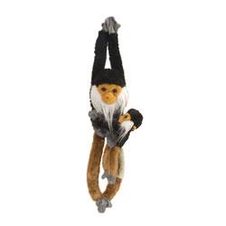 Peluche singe Douc Langur avec bébé 51 cm