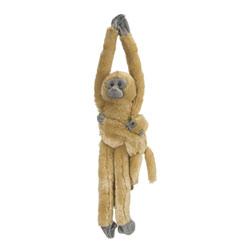 Peluche Douc Langur marron avec bébé 51 cm