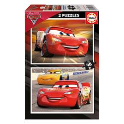 2 puzzles de 48 pièces Cars 3