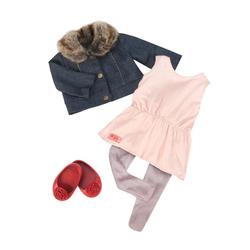 Tenue pour poupée Our Generation - Tunique et veste en jean