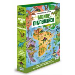 Le Monde des dinosaures en livre et puzzle - Voyage, découvre, explore