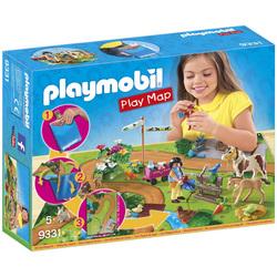 9331 - Cavaliers et poneys avec support de jeu Playmobil Country