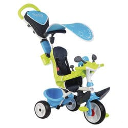 Tricycle baby driver confort 2-roues silencieuses-dispositif roue libre + verrouillage guidon-bleu