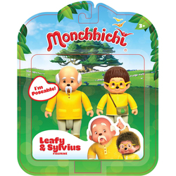 Monchhichi Pack 2 Figurines Feuillu et Sylvius