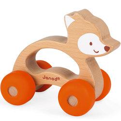 Renard à promener en bois et silicone Baby Pop