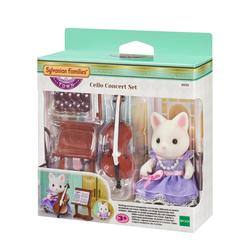 Sylvanian Families - 6010 - Figurine fille chat soie violoncelliste