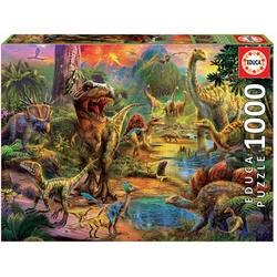 """Puzzle 1000 pièces """"Terre des dinosaures"""""""