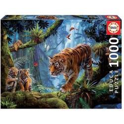 Puzzle 1000 pièces – Tigres dans l'Arbre