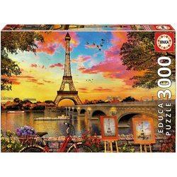 Puzzle 3000 pièces - Coucher de soleil à Paris