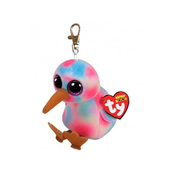 Beanie Boo's- Porte-clés Kiwi l'oiseau multicolore