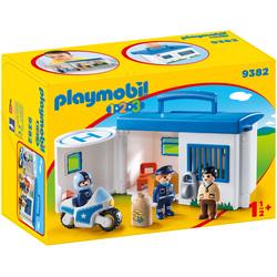 9382 - Playmobil 1.2.3 commissariat de police transportable