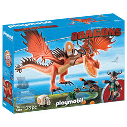 9459 - Playmobil Dragons Rustik et Krochefer