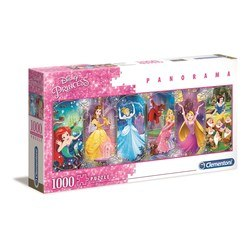 Puzzle 1000 pièces Panorama - Disney Princess