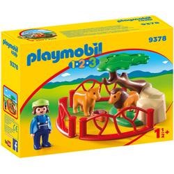 9378 - Playmobil 1.2.3 Lions avec enclos