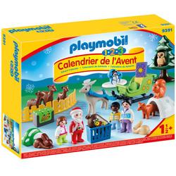 9391 - Calendrier de l'Avent 1.2.3 Père Noël Animaux