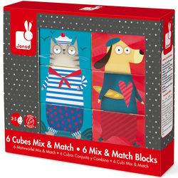 6 cubes Mix et Match chiens et chats