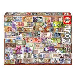 Puzzle 1000 pièces billets du monde entier