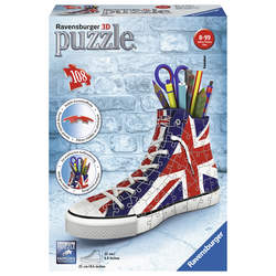 Puzzle 3D-Sneaker Union Jack 108 pièces