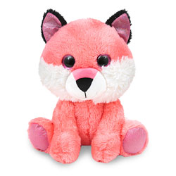 Peluche animal assis yeux brillants