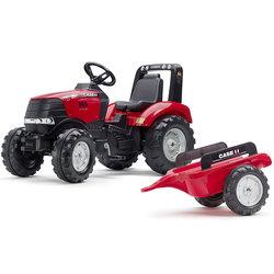 Tracteur à pédales Case IH avec remorque
