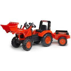 Tracteur Kubota à pédales avec pelle et remorque