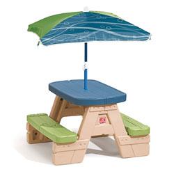 Table pique-nique avec parasol