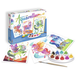 Aquarellum licornes et pégases