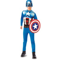 Avengers - Déguisement de Captain America + Bouclier - 7/8 ans