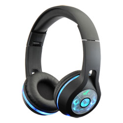 Casque Bluetooth LED MP3 noir