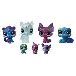 Littlest Petshop Galaxy-Tube de 7 figurines