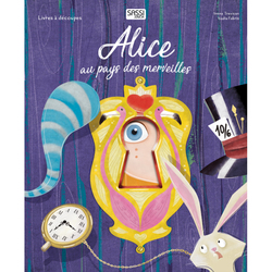 Livre Alice au pays des merveilles - Découpes lasers