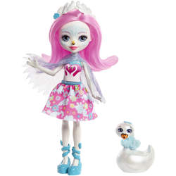 Enchantimals mini-poupée Saffi Swan et Poise
