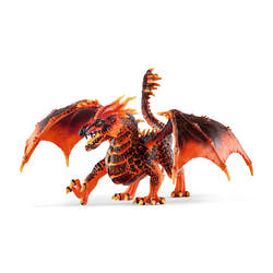 Figurine dragon de lave