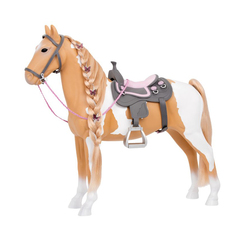 Cheval beige et blanc 51 cm - Our Generation