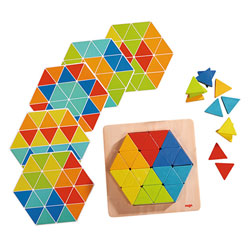 Jeu assemblage triangles magiques