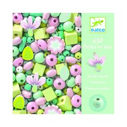 Perles en bois fleurs