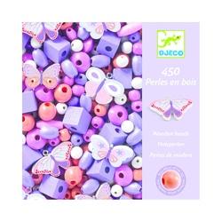 Perles en bois papillons